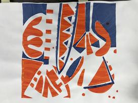 Gillian Ayres inspired Screen print