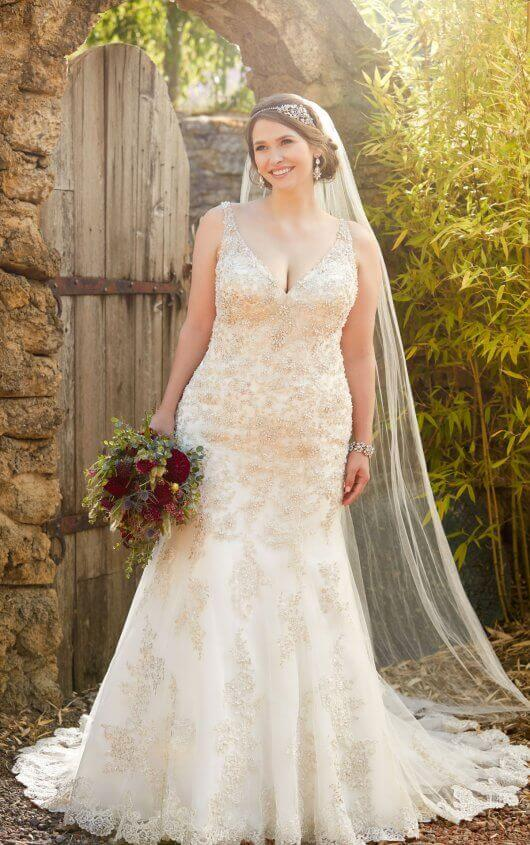 301541609aa7c We are thrilled to carry plus-size bridal gowns in sizes 20-32
