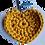 Thumbnail: Herzförmiger Schlüsselanhänger, GELB, gehäkelt, handmade