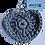 Thumbnail: Herzförmiger Schlüsselanhänger, STEINGRAU, gehäkelt, handmade