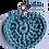 Thumbnail: Herzförmiger Schlüsselanhänger, MEERGRÜN, gehäkelt, handmade