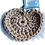 Thumbnail: Herzförmiger Schlüsselanhänger, SAND, gehäkelt, handmade