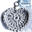 Thumbnail: Herzförmiger Schlüsselanhänger, HELLGRAU, gehäkelt, handmade