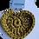 Thumbnail: Herzförmiger Schlüsselanhänger, OLIV, gehäkelt, handmade