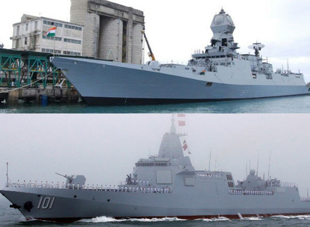 Indian Kolkata class vs Chinese Type-52D destroyer