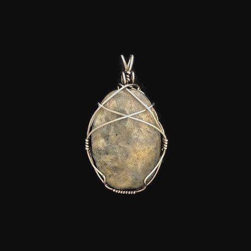 Gray Agate Pendant