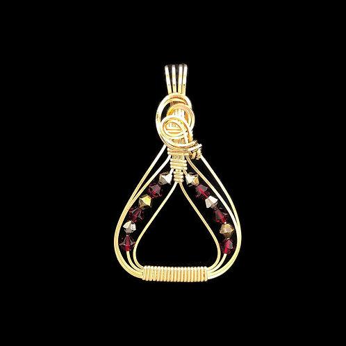 Siam / Gold Egyptian Pendant