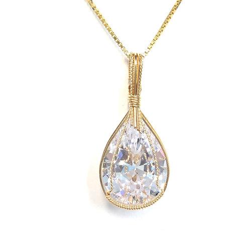 Lab Created Diamond Pendant / Earring Set