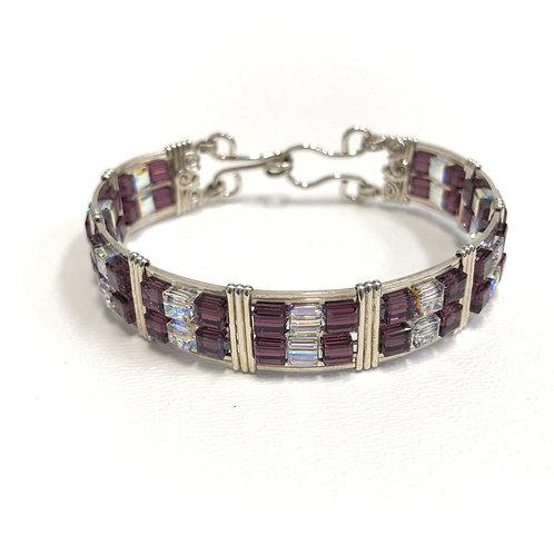 Amethyst Cube Bracelet