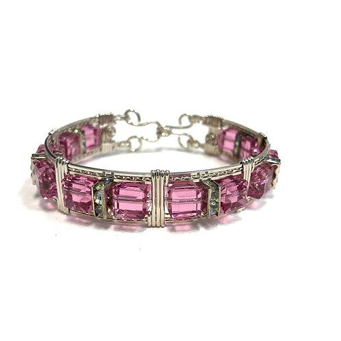 Indian Pink Large Cube Bracelet
