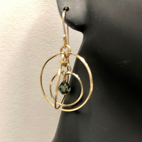 Morion Tri-Circle Earrings