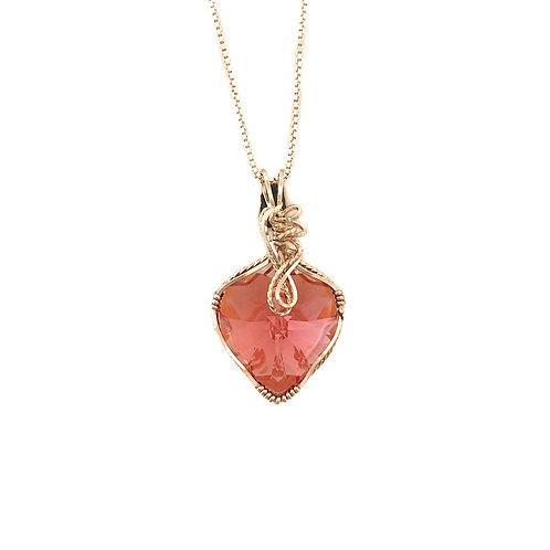 Padparadscha Heart Pendant