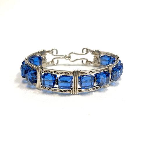 Sapphire Cube Bracelet