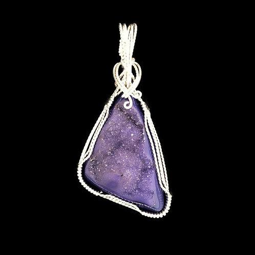 Druzy Pendant - Purple
