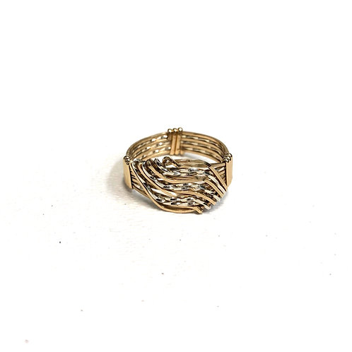 Wave Ring - Two Tone