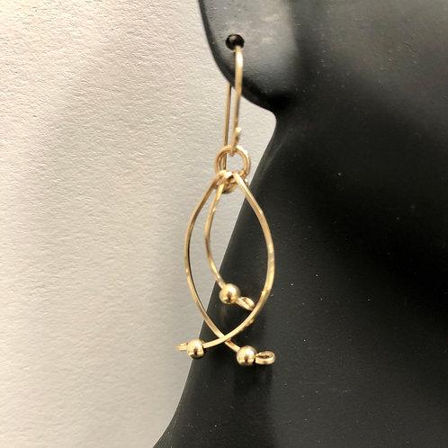 Swifty Earrings Sm GF w/ GF Beads