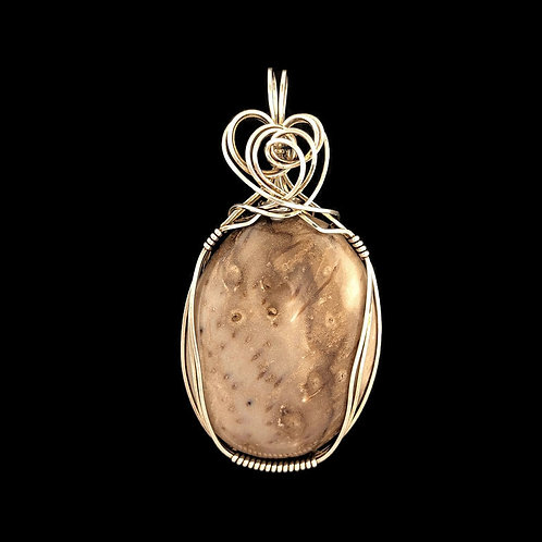 Petrified Palm Pendant