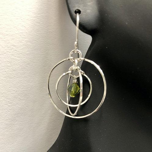 Olivine Tri-Circle Earrings