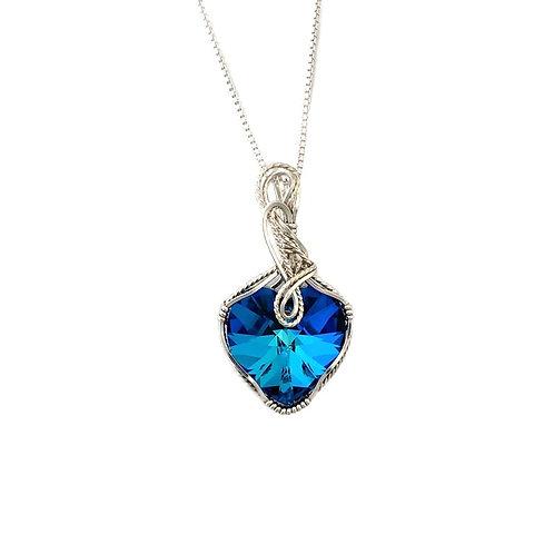 Bermuda Blue Heart Pendant