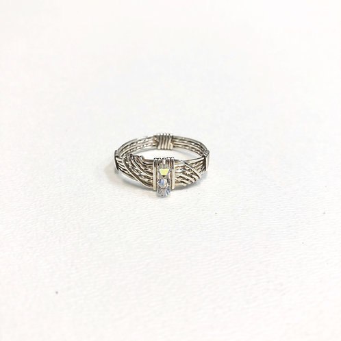 Crystal AB Wave Ring
