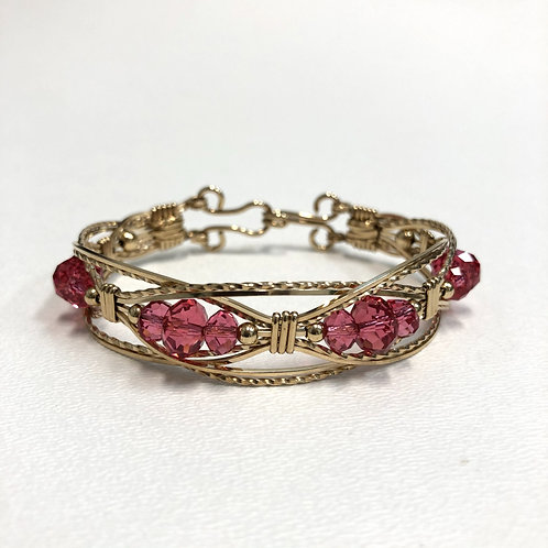 Indian Pink Lacey Bracelet