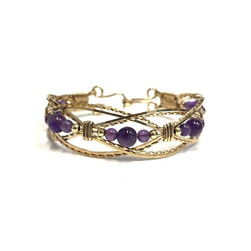 Amethyst Lacey Bracelet