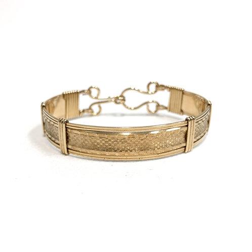 Diamond Plate Pattern Bangle Bracelet