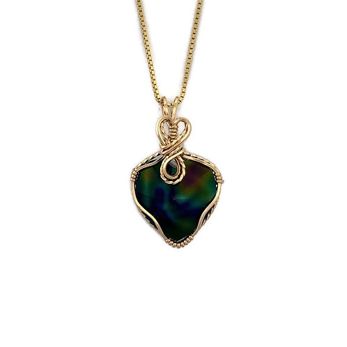 Dark Rainbow Heart Pendant