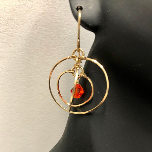 Hyacinth Tri-Circle Earrings