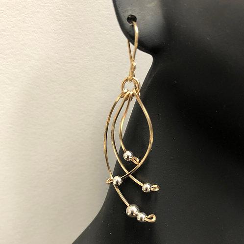 Swifty Earrings -GF w/ SS Beads