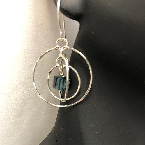 Montana Blue Tri-Circle Earrings