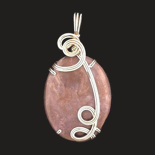 Plum Jasper Pendant