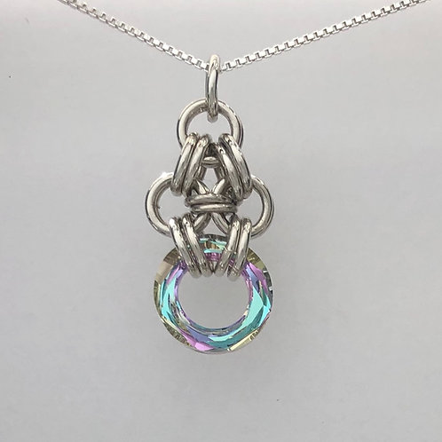 Vitrail Light Cosmic Chainmaille Pendant