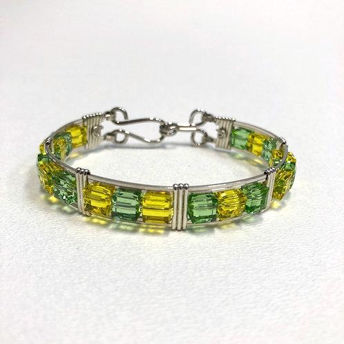 Peridot / Citrine Cube Bracelet