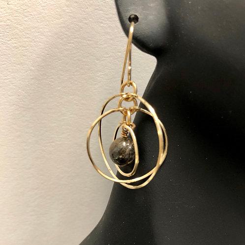 Tri-Circle Earrings