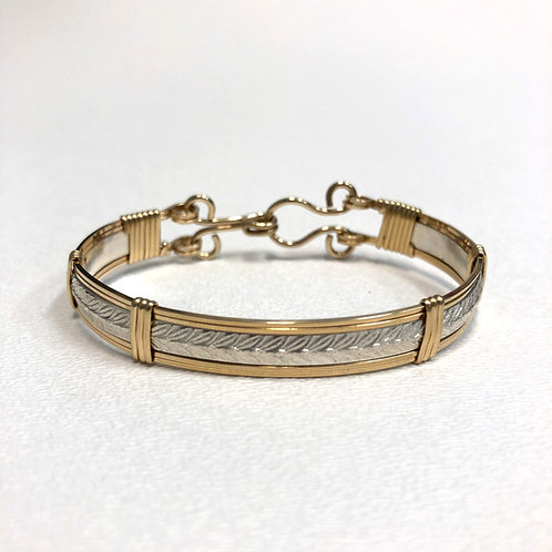 Herringbone Bracelet 2-tone