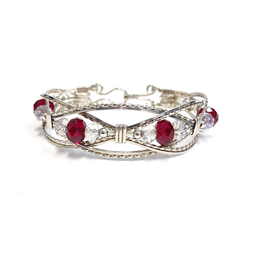 Siam Ruby Lacey Bracelet