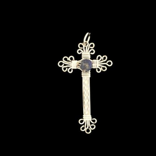Cross w/Sodalite Bead