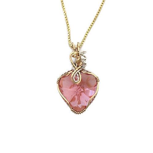 Rose Heart Pendant