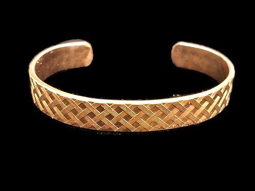 Basket Weave Copper Cuff Bracelet