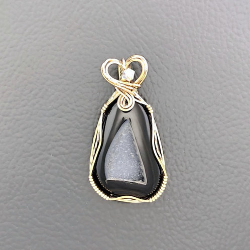 Druzy - Black Pendant