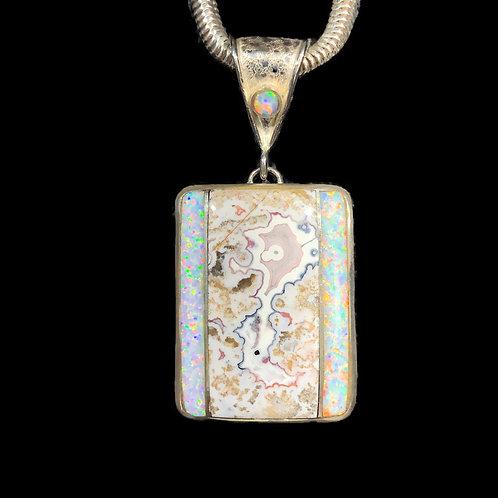 Opal Inlay Pendant
