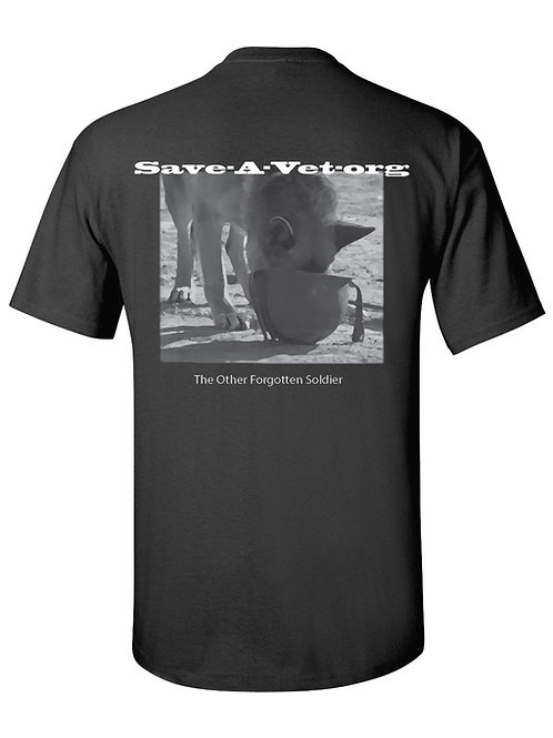 Vietnam Photo - MWD Drinking out of Helmet Short Sleeve