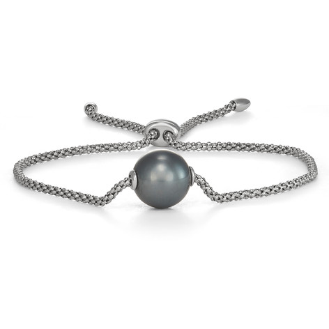 Tahitian Cultured Pearl and Sterling Silver Bracelet