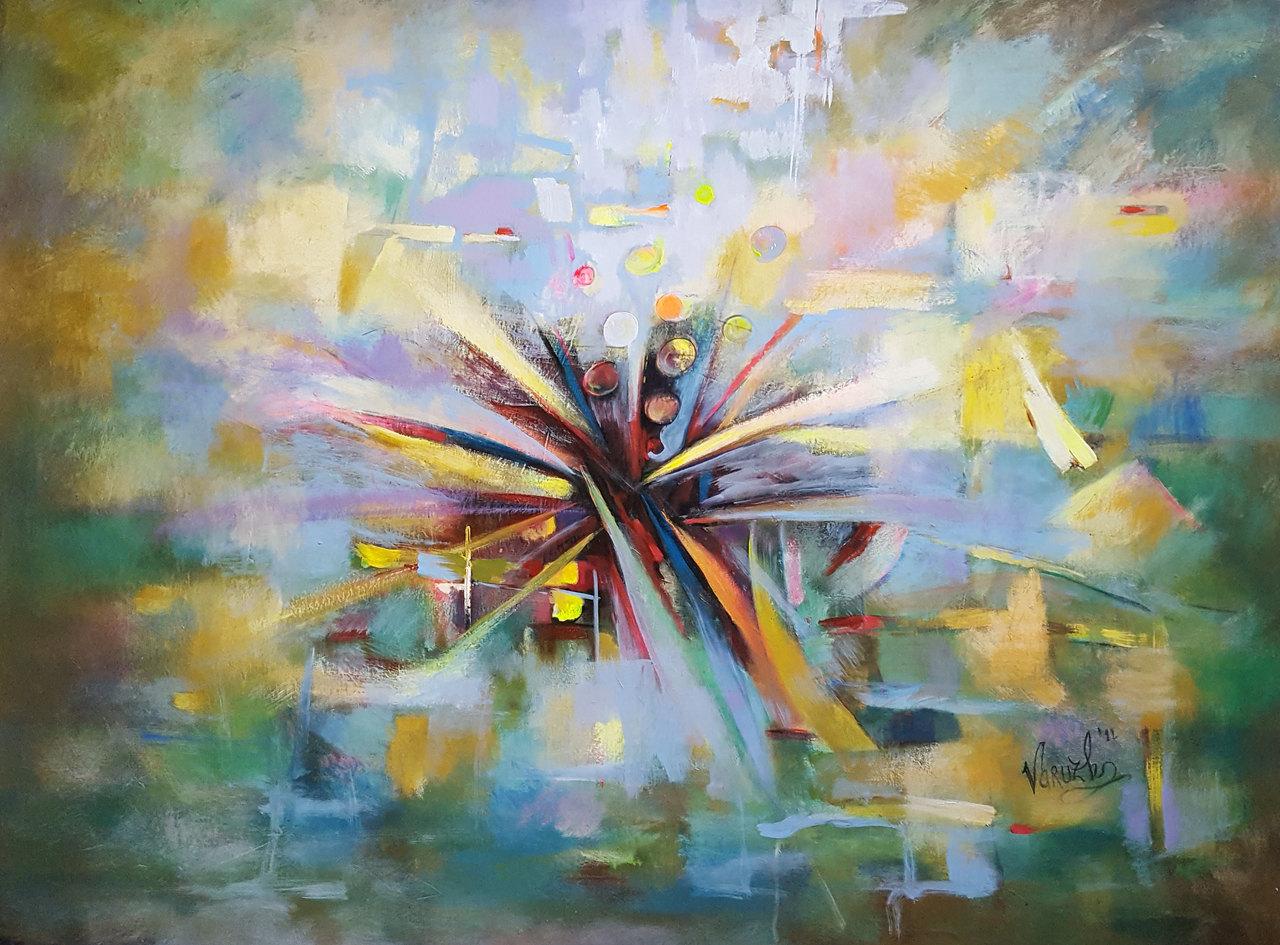 Composition   No.6   35X80cm   acrylic   canvas