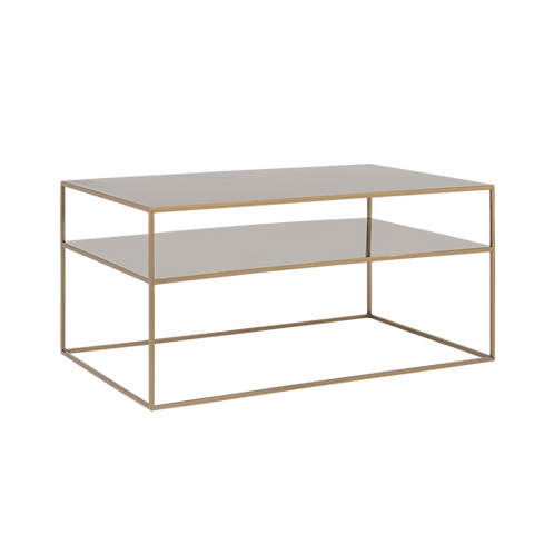 Coffee Table TENSIO 2 FLOOR METAL 100x60, gold