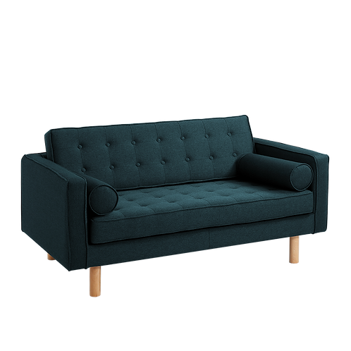 2 Seater Bed Sofa TOPIC WOOD, Deep Sea (et37), Natural