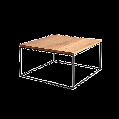 Coffee table TENSIO WOOD 100x100, oak veneer, black
