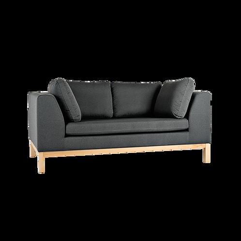 2 Seater Sofa Bed AMBIENT WOOD - bazalt(ml98), natural
