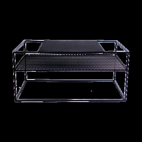 Coffee table MATRIX METAL 100X60 - black